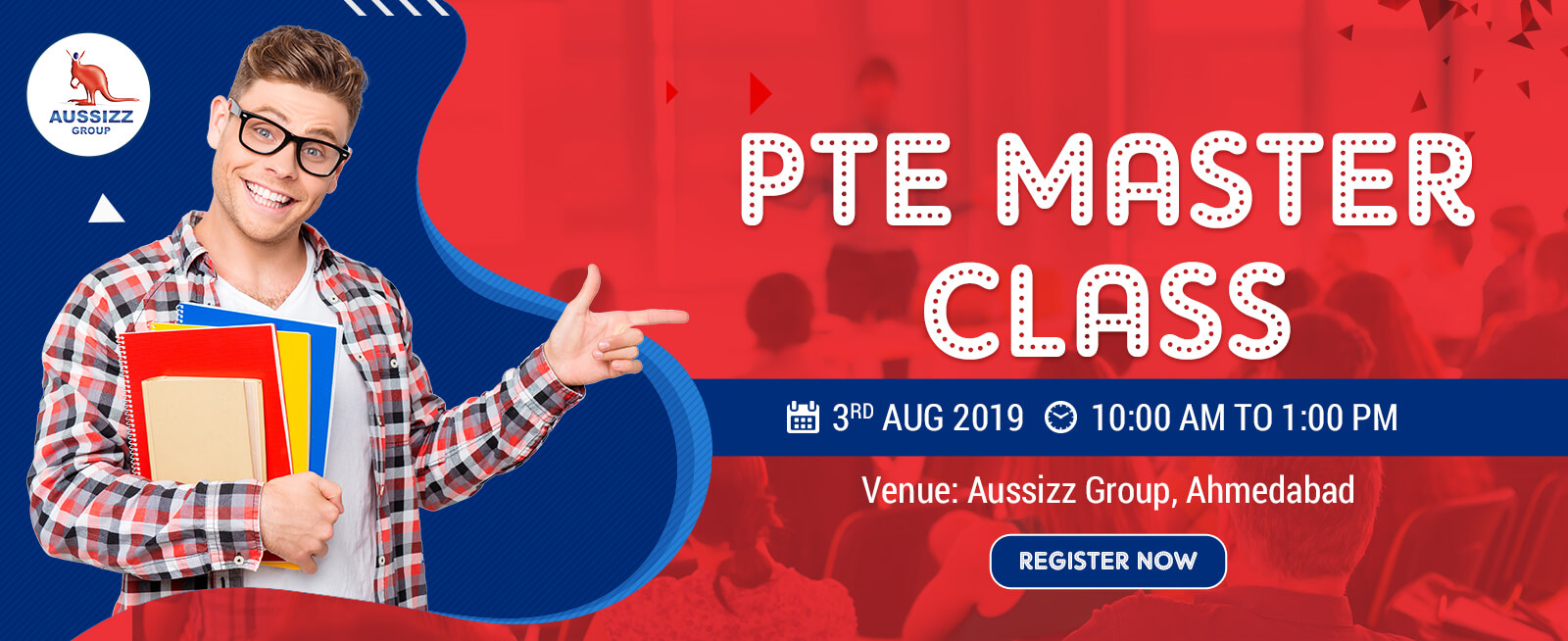 Crack the PTE exam with One Day Master Class at Aussizz Group Ahmedabad
