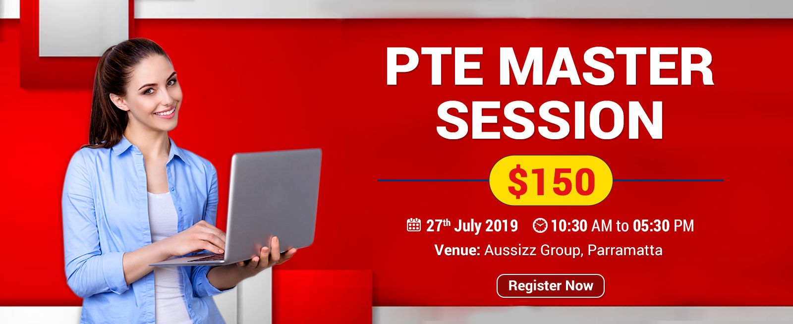 Register for PTE Master Session For $150 at Parramatta