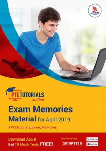 Exam Memories Materials April 2019
