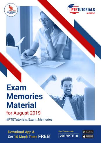 Exam Memories Materials August 2019