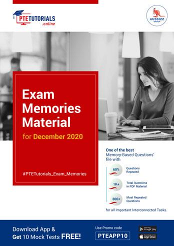 PTE Exam Memories Material for December 2020