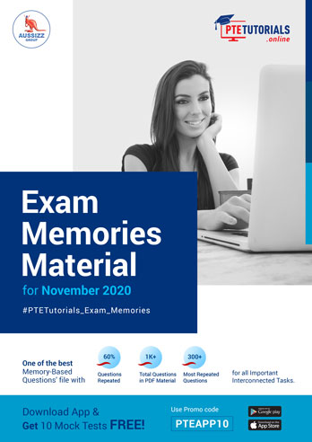 PTE Exam Memories Material for November 2020