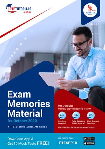 PTE Exam Memories Material for October 2020