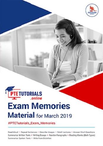 Exam Memories Materials March 2019
