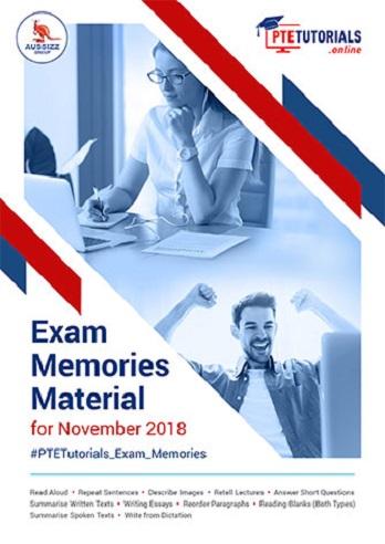 Exam Memories Materials Nov 2018