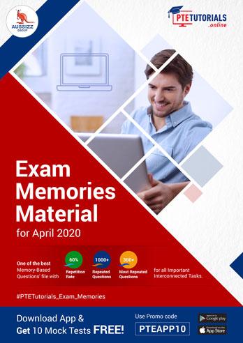 PTE Exam Memories Material for April 2020