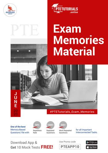 PTE Exam Memories Material for June 2020