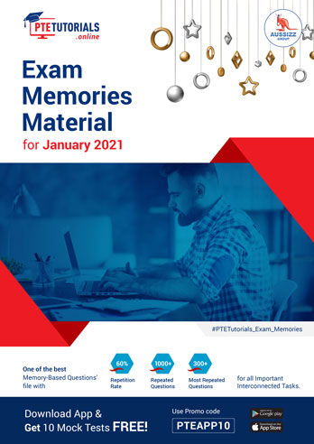 PTE Exam Memories Material for January 2021