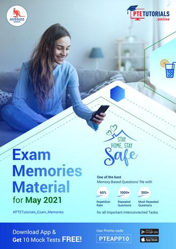 PTE Exam Memories Material for May 2021