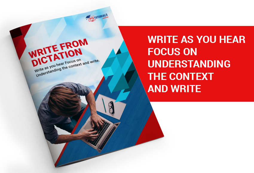Write from diaction