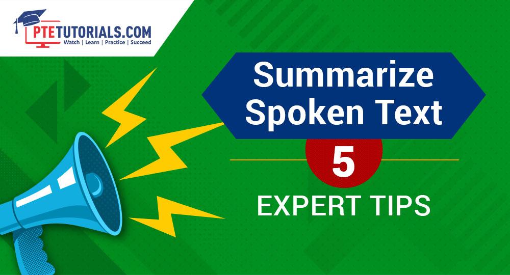 Summarize spoken text